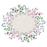 Watercolor floral frame. Hand drawn watercolor image isolated on white background. Great start for wedding and other cards Royalty Free Stock Photos