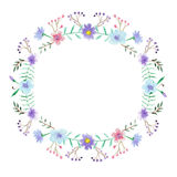 Watercolor floral frame Royalty Free Stock Photography