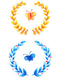 Watercolor floral frames Royalty Free Stock Images