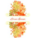 Watercolor floral greeting card. Vector watercolor floral greeting card Royalty Free Stock Images