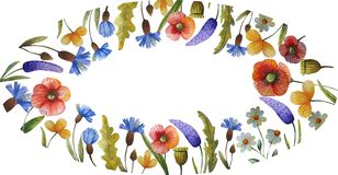 Watercolor floral illustration stock illustration