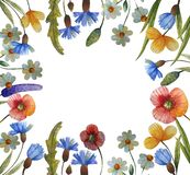 Watercolor floral illustration vector illustration
