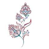 Watercolor Floral Motif Design Stock Images