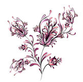 Watercolor Floral Motif Design Stock Image