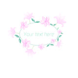 Watercolor floral oval frame pastel color Royalty Free Stock Image