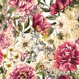 Watercolor floral pattern Stock Images