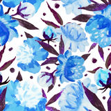 Watercolor floral pattern Royalty Free Stock Photos