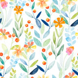 Watercolor floral pattern Royalty Free Stock Photo