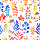 Watercolor floral pattern Royalty Free Stock Photography