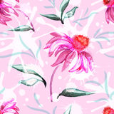 Watercolor floral pattern Stock Photo