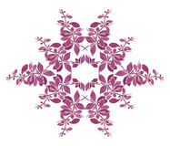 Watercolor floral pattern with purple twig Royalty Free Stock Image