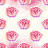 Watercolor Floral pattern with roses Royalty Free Stock Photo