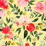 Watercolor floral pattern. royalty free illustration