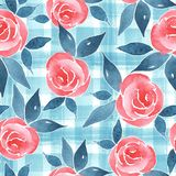 Watercolor floral pattern with simple flowers 7 vector illustration