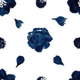 Watercolor floral pattern Stock Photos