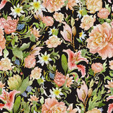 Watercolor floral pattern Stock Photography