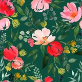 Watercolor floral pattern. royalty free stock image