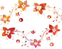 Watercolor floral pattern. On a white background Stock Image