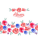 Watercolor Floral Seamless Background Royalty Free Stock Image