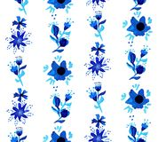 Watercolor floral seamless pattern background Stock Image