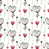 Watercolor floral seamless pattern. Can be used for wrapping, textile, wallpaper and package design. Stock Images