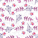 Watercolor floral seamless pattern Royalty Free Stock Photo