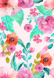 Watercolor floral seamless pattern vector illustration