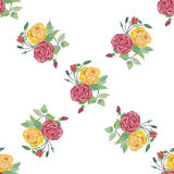 Watercolor floral seamless pattern . Decorative background with watercolor rose flowers Vector Illustration