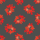 Watercolor floral seamless pattern with flowers and leafs. Stock Images