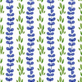 Watercolor floral seamless pattern. Green and blue nature background. Can be used for wrapping, textile, wallpaper and Stock Photography