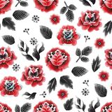 Watercolor floral pattern Stock Image