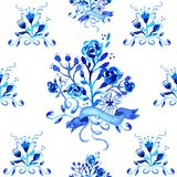 Watercolor floral seamless pattern illustration Royalty Free Stock Photo