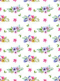 Watercolor floral seamless pattern with multicolored flowers,leaves,berries. Royalty Free Stock Photo