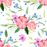 Watercolor floral seamless Stock Image