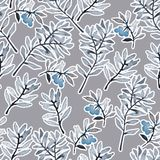 Watercolor floral wallpaper seamless pattern or background royalty free illustration