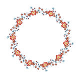 Watercolor floral wreath vector Stock Images