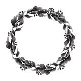 Watercolor floral wreath Royalty Free Stock Image