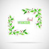 Watercolor florals Royalty Free Stock Photos