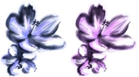 Watercolor flower. Hand painted flower with watercolor effect Royalty Free Stock Photography