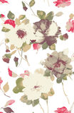 Watercolor of flower Stock Images