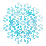 Watercolor flower blue Element for design Royalty Free Stock Photography