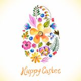 Watercolor flower card stock illustration
