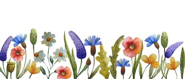 Watercolor flower composition royalty free illustration
