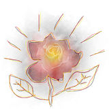Watercolor flower design. Can be used by many companies Stock Photos