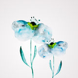 Watercolor flower frame Royalty Free Stock Photography