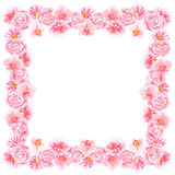Watercolor Flower Frame Royalty Free Stock Images