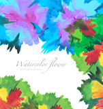 Watercolor flower painted background. Royalty Free Stock Photos