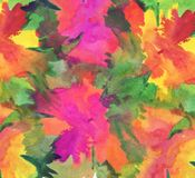 Watercolor flower painted background stock photos