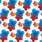 Watercolor flower pattern Royalty Free Stock Photos