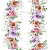 Watercolor flower print Royalty Free Stock Photo